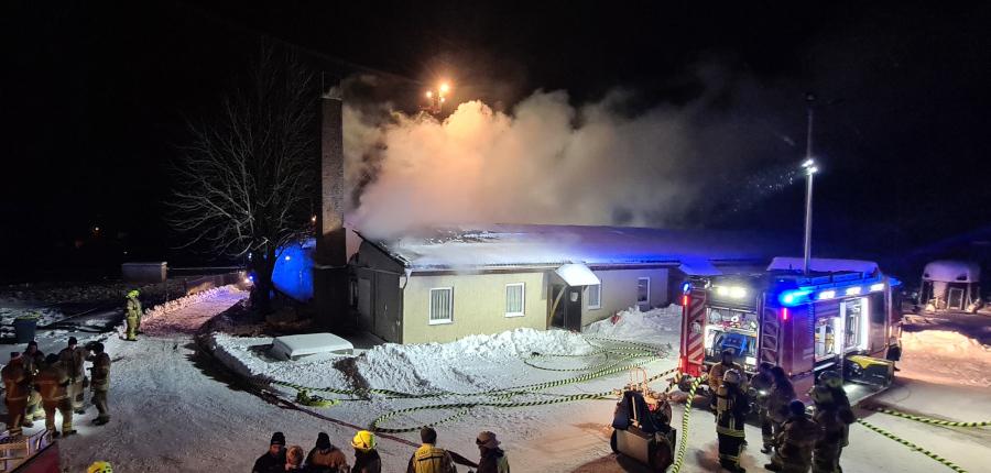 08.02.2021 – Alarmierung Feuerwehr Bernsgrün zum Brandeinsatz im ehemaligen Sägewerk Pöllwitz
